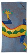 Painted Lizard Bath Towel