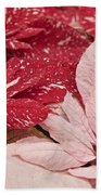 Painted Poinsettias Bath Towel