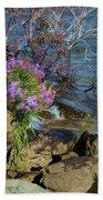Painted River Flower Bath Towel
