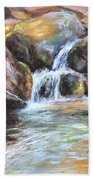 Painted Rocks Bath Towel