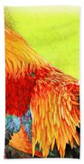 Painted Rooster Bath Towel