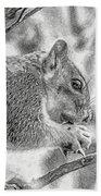 Painted Squirrel Bath Towel