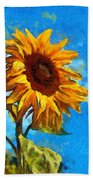 Painted Sunflower Hand Towel