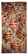 painted tangerines for Halloween Bath Towel
