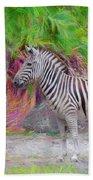 Painted Zebra Hand Towel