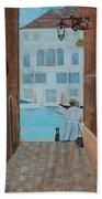 Painter In Venice Bath Towel