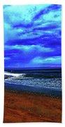 Painterly Beach Scene Bath Towel