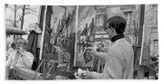 Painters In Montmartre, Paris, 1977 Bath Towel