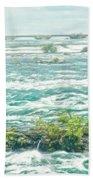 Painting Of Niagara Falls Bath Towel