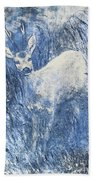 Painting Of Young Deer In Wild Landscape With High Grass. Graphic Effect. Bath Towel