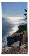 Palisade Head Lake Superior Minnesota Winter Afternoon Bath Towel