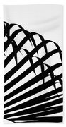 Palm Frond Black And White Bath Towel