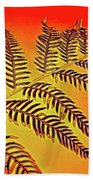 Palm Frond In The Summer Heat Bath Towel