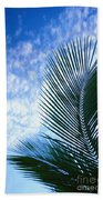 Palm Fronds And Clouds Bath Towel