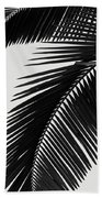 Palm Leaves Bw Hand Towel