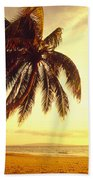 Palm Over The Beach Bath Towel
