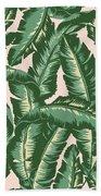 Palm Print Bath Towel by Lauren Amelia Hughes