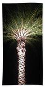 Palm Tree At Night Bath Towel
