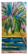 Palm Tree Color Times Two Bath Towel