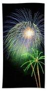 Palm Tree Fireworks Bath Towel