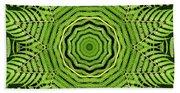 Palm Tree Kaleidoscope Abstract Bath Towel