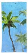 Palm Tree Plein Air Painting Bath Towel