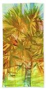 Palm Tree Portrait Bath Towel