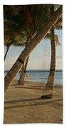 Palm Trees And Hammock On San Pedro Bath Towel