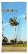 Palm Trees Of Daytona Florida Hand Towel