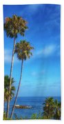 Palm Trees On The Pacific Bath Towel