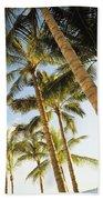 Palms Against Blue Sky Bath Towel