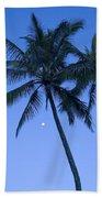 Palms And Blue Sky Bath Towel