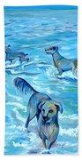 Panama. Salted Dogs Hand Towel