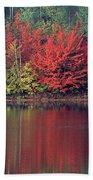 Panorama Fall Color Moccasin Lake Upper Peninsula Mi Bath Towel
