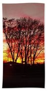 Panorama    Mid Winter Sunset In The City       Indiana Bath Towel