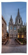 Panorama Of Cathedral Of The Holy Cross And Saint Eulalia In The Bath Towel
