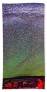Panorama Of Milky Way Above The Table Bath Towel