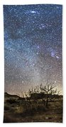Panorama Of Milky Way And Zodiacal Bath Towel