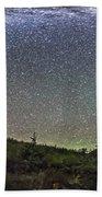 Panorama Of Milky Way Over Red Rock Bath Towel