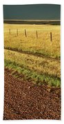 Panoramic Prairie Storm Canada At Sunset Bath Towel