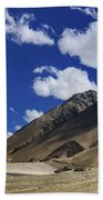 Panrama Of Mountains Ladakh Jammu And Kashmir India Bath Towel