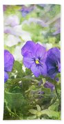 Pansy Impressions Hand Towel