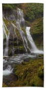 Panther Creek Falls In Autumn Hand Towel