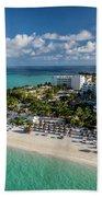 Paradise - Isla Mujeres - Playa Norte, Aerial Image Bath Towel