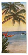 Paradise With Dolphins Hand Towel