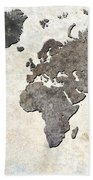 Parchment World Map Bath Towel