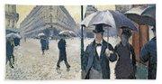 Paris A Rainy Day Hand Towel