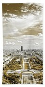 Paris City View 20 Sepia Bath Towel