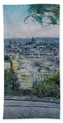 Paris From The Sacre Coeur Montmartre France 2016 Bath Towel