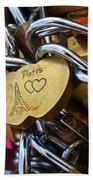 Paris Love Locks Paris France Color Bath Towel